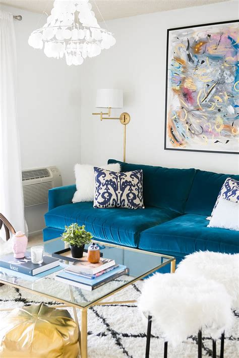 bold focal point easy living room decorating ideas popsugar home photo