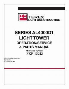 Terex Amida Light Tower Series Al4000d1 By Power