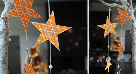 comment decorer sa cuisine décoration de noël une guirlande d étoiles en papier prima