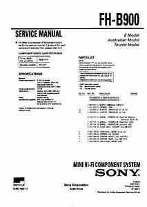 Sony Fh-b900 Service Manual