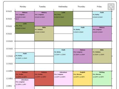 cute class schedule maker printable receipt template