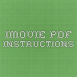 Imovie Pdf Instructions