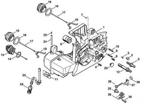 stihl chainsaw parts diagram automotive parts