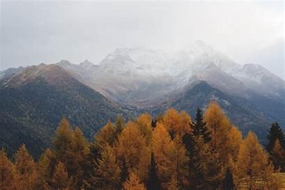 Desktop Mountain Fall Mountains Landscape Autumn Foggy