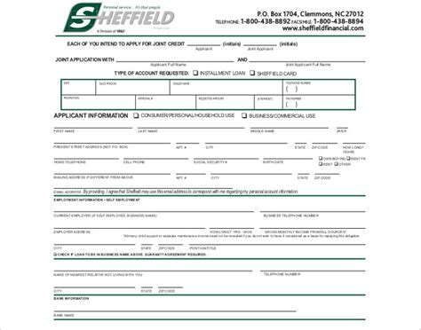 Credit Application Template 24 Credit Application Form Templates Free Word Pdf Formats