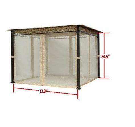 universal 10 x 10 mosquito netting set garden