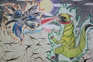 Hydreigon vs. Haxorus by kelkeltang215 on DeviantArt