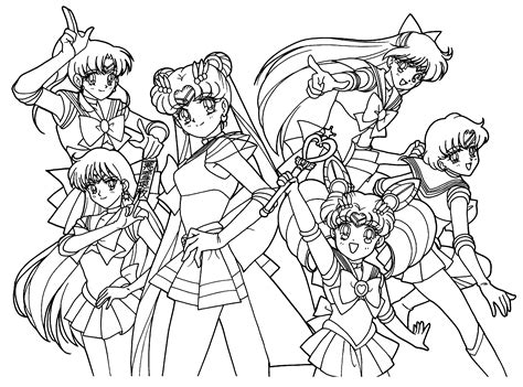 Sailor Moon Coloring Pages To Print