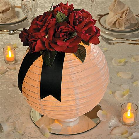 Lighted Floral Lantern Centerpiece Idea Orientaltrading
