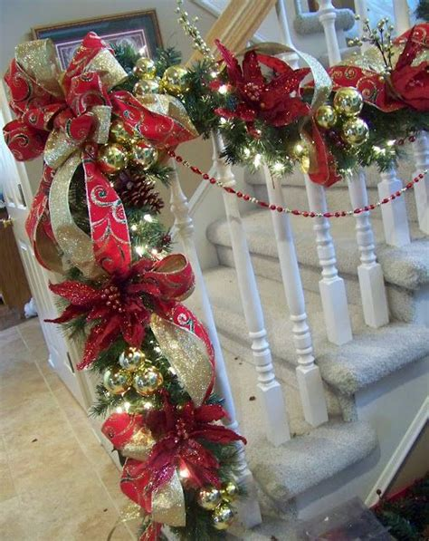 lighted garland for staircase how to decorate your stairs with lighted garland