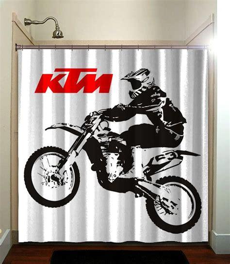 ktm motocross shower curtain bathroom home decor