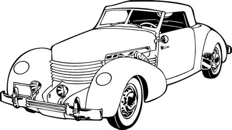 Classic Car Line Drawing At Getdrawings.com