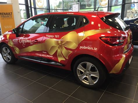 renault christmas vehicle wraps lettering vambeck signs