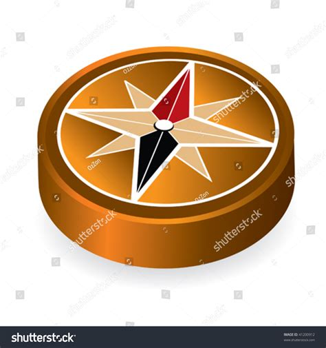 Abstract Vintage Compass Rose Vector Illustration Stock