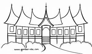 Keren  Gambar Cara Menggambar Rumah Gadang