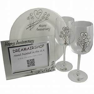 personalised 15th crystal wedding anniversary gift sets With fifteenth wedding anniversary gifts