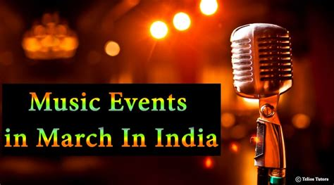 Music Events In March In India