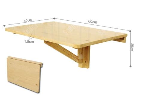 table pliante murale cuisine sobuy fwt03 n table murale rabattable en bois table pliable de cuisin