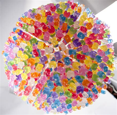 gummy chandelier diy chandelier made from 3 000 gummy bears by kevin cheny