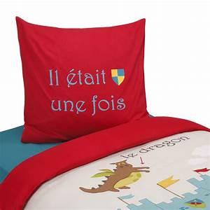 Parure Couette Enfant : parure de couette pour lit enfant multicolore chevalier ~ Teatrodelosmanantiales.com Idées de Décoration