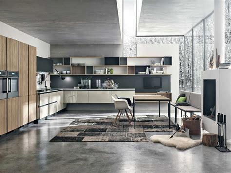 cuisine bois moderne cuisine moderne bois et couleur