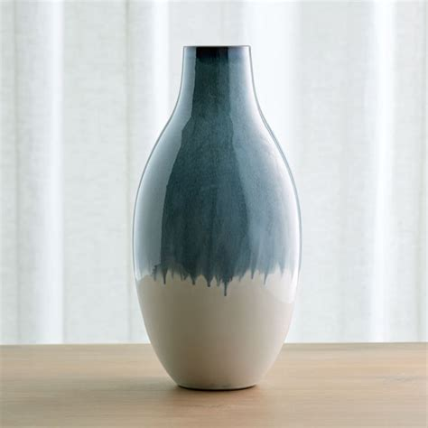 cascade large ombre vase reviews crate  barrel