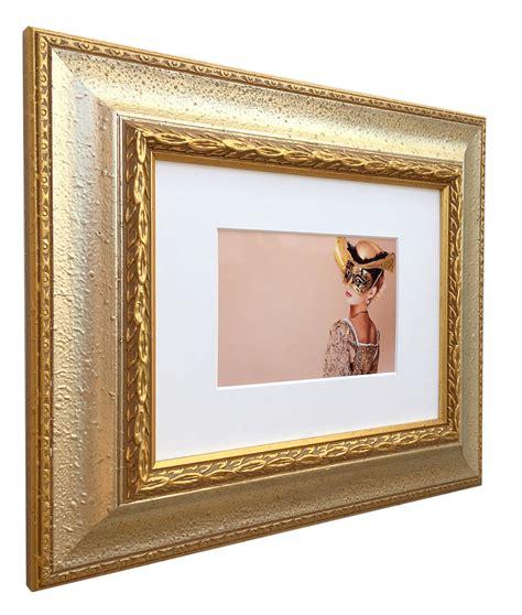 bilderrahmen kaufen holz bilderrahmen profil 31 mit passepartout