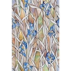 artscape 24 in x 36 in iris decorative window film 02