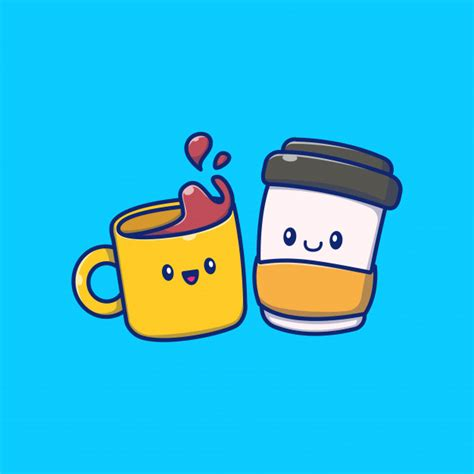 Choose from 3400+ coffee cup graphic resources and download in the form of png, eps, ai or psd. Premium Vector | Cute coffee time icon illustration. coffee drink icon concept isolated . flat ...