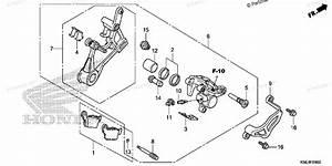Honda Motorcycle 2007 Oem Parts Diagram For Rear Brake Caliper