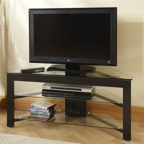 wood corner tv stand  black tv