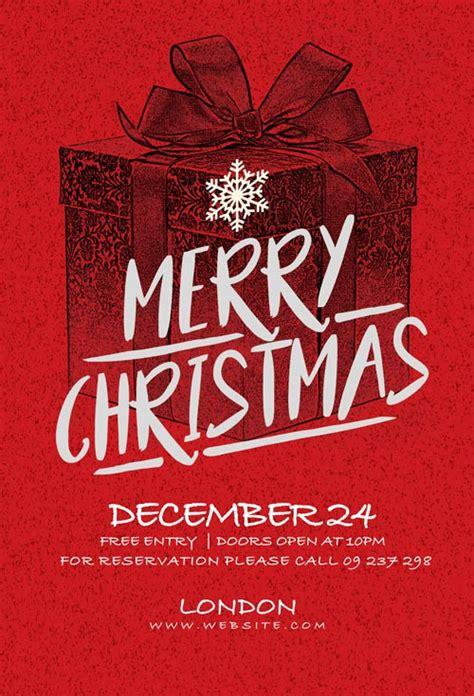 Christmas Card Invitation Flyer Template Creative Flyers