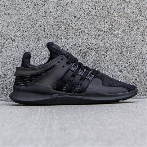 sepatu dd adidas eqt support adv black black vintage