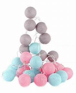 Guirlande Boule Coton : guirlande lumineuse led boules coton couleurs rose bleu 3 m tres la galerie des arts ~ Teatrodelosmanantiales.com Idées de Décoration