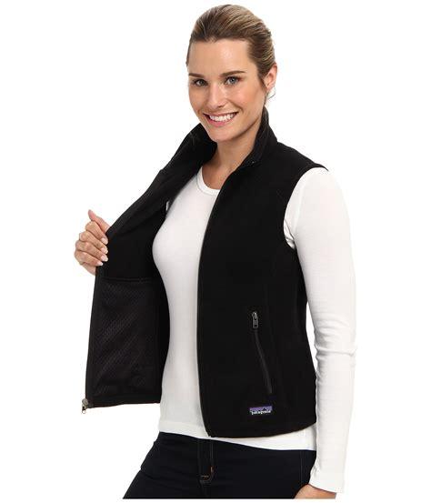 patagonia simple synchilla fleece vest  black lyst