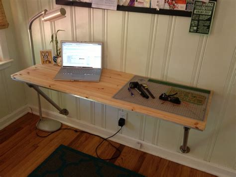 Help Request Industrial Style Wall Mounted Desk Diy