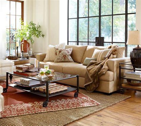 terracotta sofa living room desa rug terra cotta pottery barn layered with 9x12