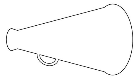 Megaphone Pattern Use The Printable Outline For Crafts