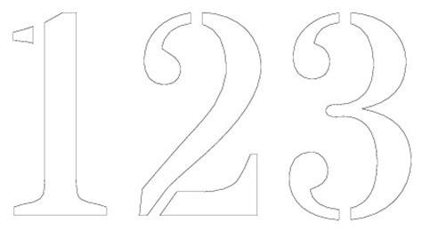 printable number templates printable  degree