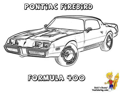 Brawny Muscle Car Coloring Pages