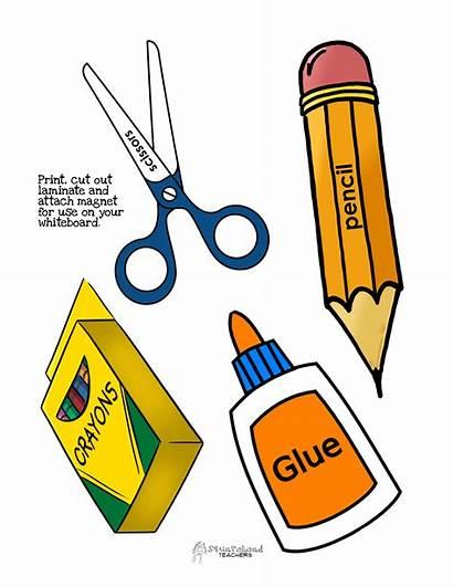 Supplies Classroom Supply Clipart Cliparts Trash Clip