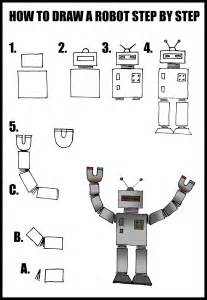 How to Draw Robots Step by Step