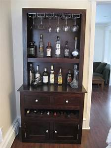 Custom liquor cabinet with glass racks open shelving for Home bar furniture china