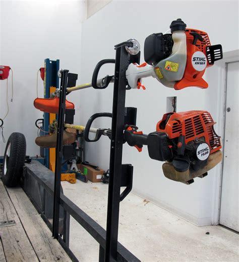eater rack for trailer lockable trimmer rack for utility trailers rackem trailer