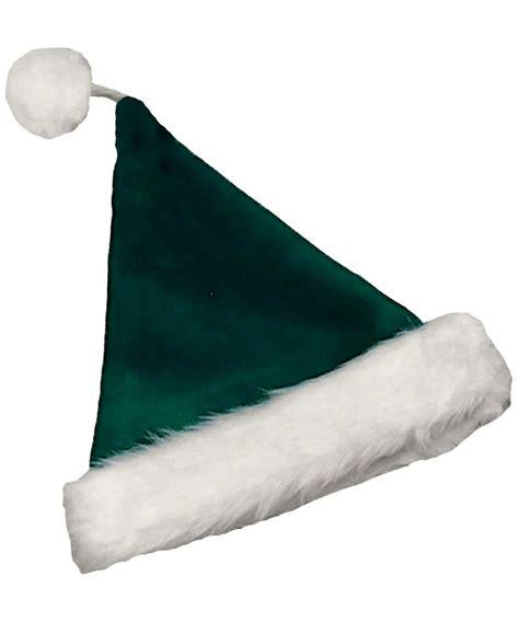 velvet green santa hat adult hat at wonder costumes