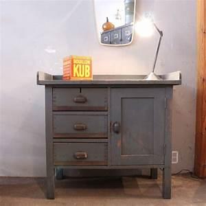 Etabli D Atelier : mobilier industriel petit tabli d 39 atelier en bois ~ Edinachiropracticcenter.com Idées de Décoration