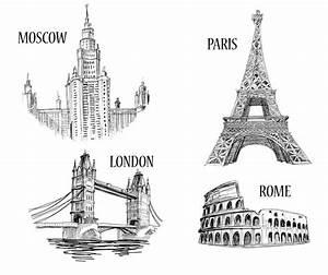 London Bridge Dessin : render monuments statues renders monuments dessins paris tour eiffel rome colisee londres ~ Dode.kayakingforconservation.com Idées de Décoration