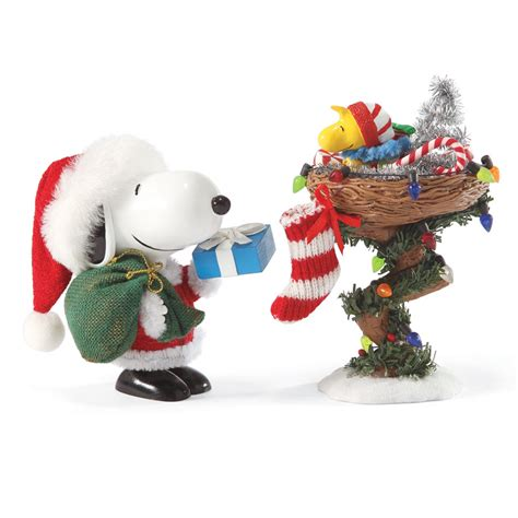 peanuts snoopy and woodstock gift giving christmas