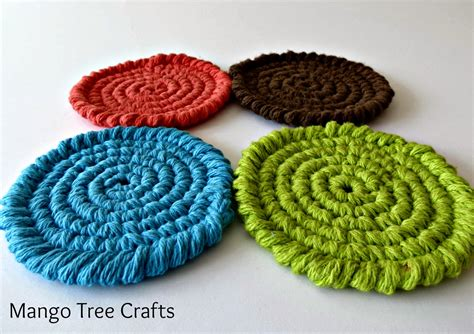 crochet coasters mango tree crafts free crochet coasters pattern