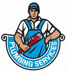Plumber Holding A Wrench Plumbing Services (plumber ...